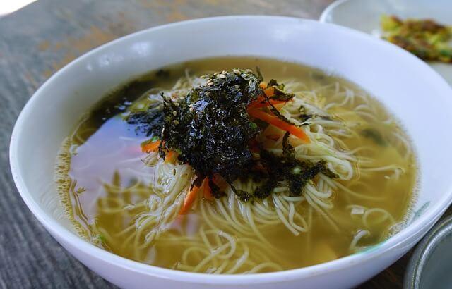 韓国の麺料理ククス